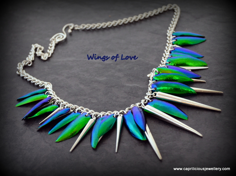 Beetle Wing jewellery from Caprilicious Jewellery