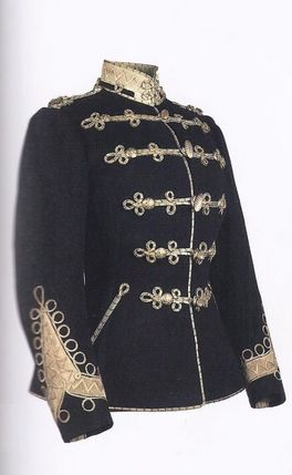 Soutache braiding on a military jacket
