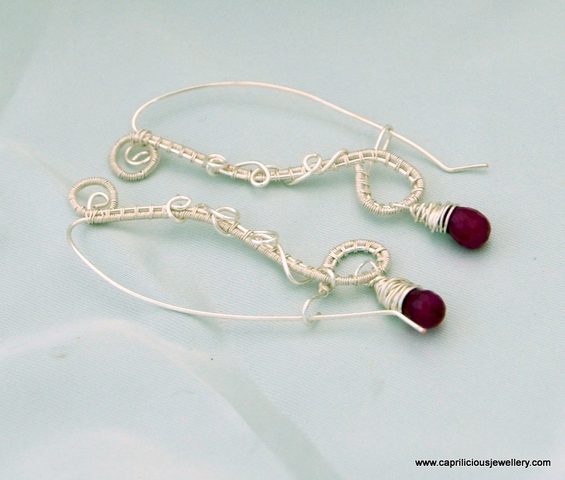 Wire earrings from Caprilicious Jewellery