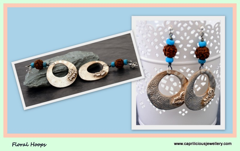 Precious Metal Clay (99% Silver) earrings PMC by Caprilicious jewellery