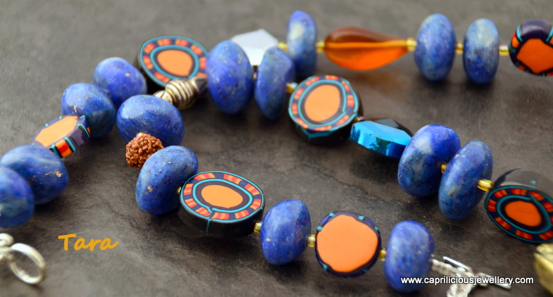Polymer clay beads by Caprilicious Jewellery