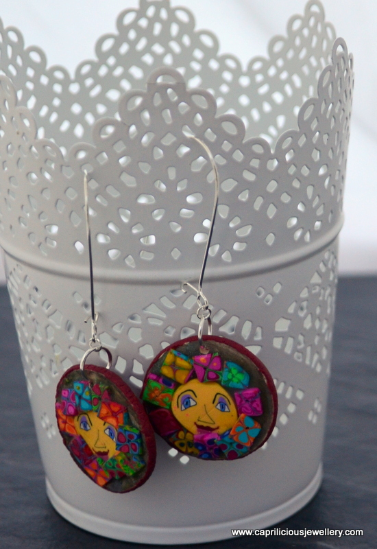 Pixie people - polymer clay earrings by Caprilicious Jewellery