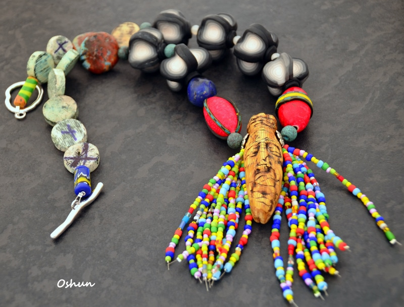 A tribal boho chic necklace by Caprilicious Jewellery