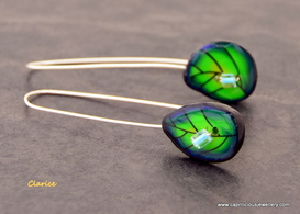 Polymer clay and wire earrings by Caprilicious Jewellery