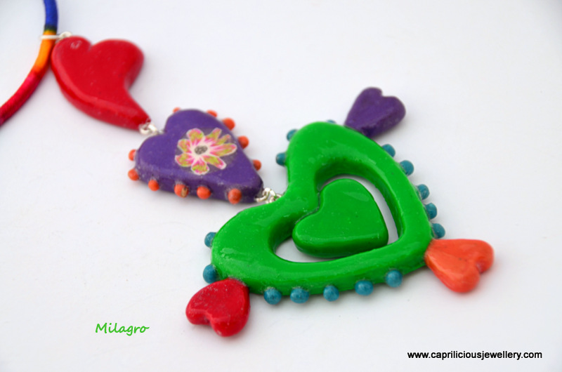 Polymer clay Milagro by Caprilicious Jewellery