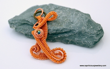 Wirework pendant by Caprilicious Jewellery