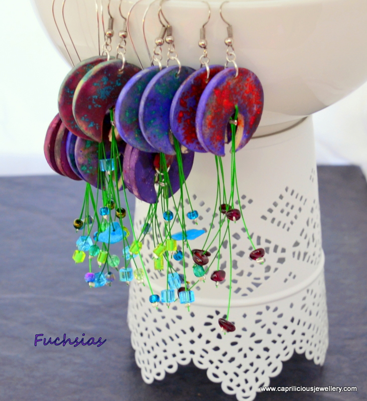 Using chalk to colour polymer clay - Caprilicious Jewellery