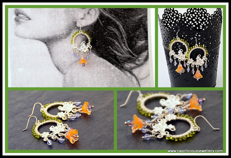 Floral earrings by Caprilicious Jewellery