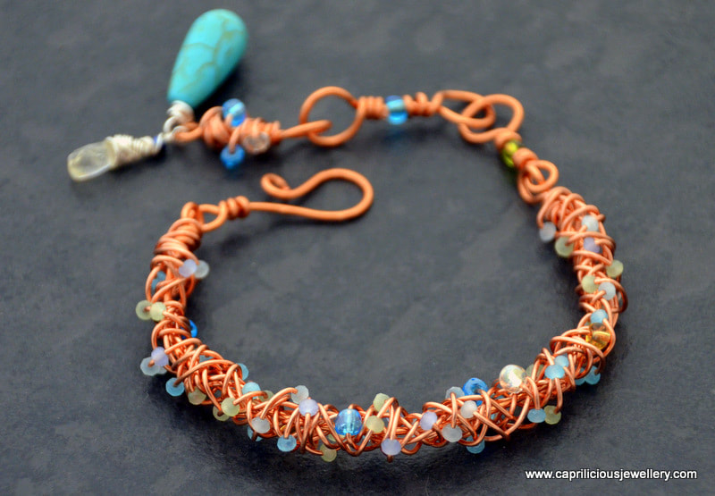 Copper bracelet for arthritis sufferers by Caprilicious Jewellery. Contact me to commission one for yourself