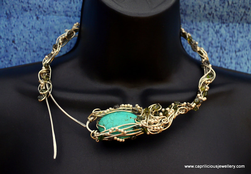 Art Nouveau Wire Torque by Caprilicious Jewellery