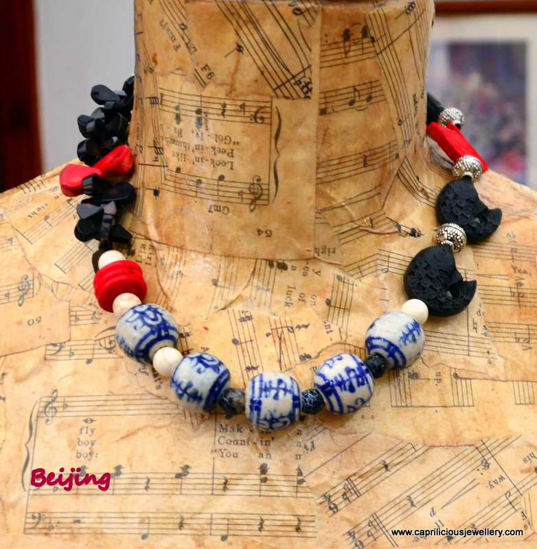 Beijing - a necklace with oriental elements from Caprilicious Jewellery