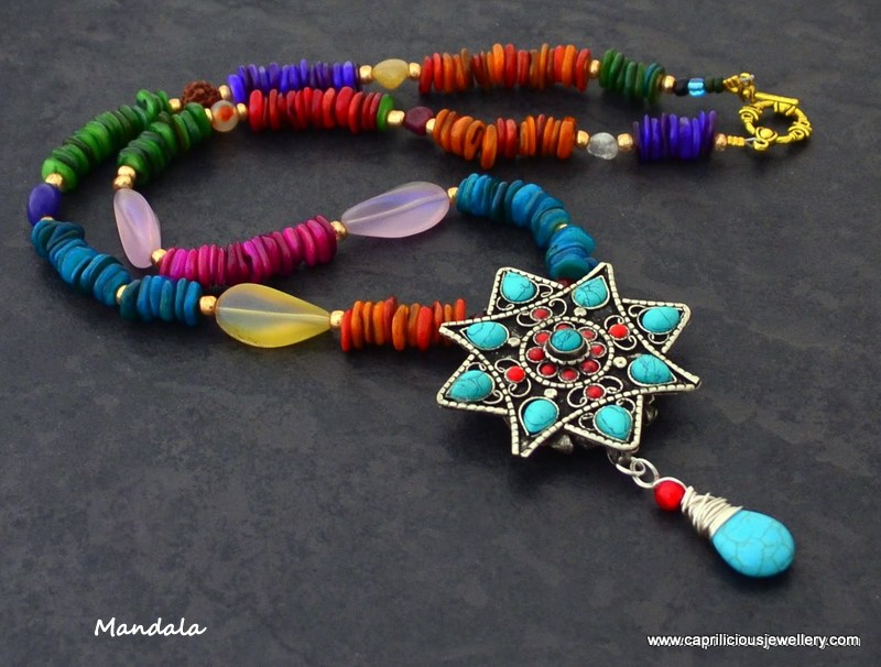 Mandala - a Ghau box necklace by Caprilicious Jewellery
