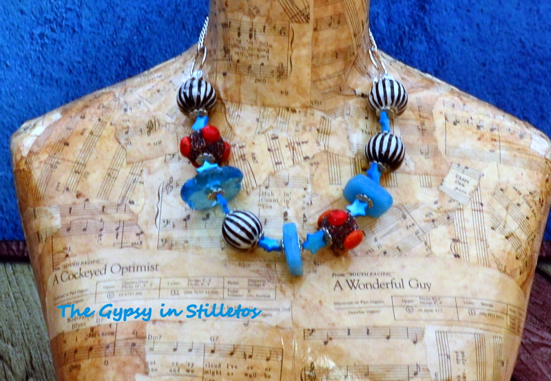 The Gypsy In Stilletos necklace by Caprilicious Jewellery