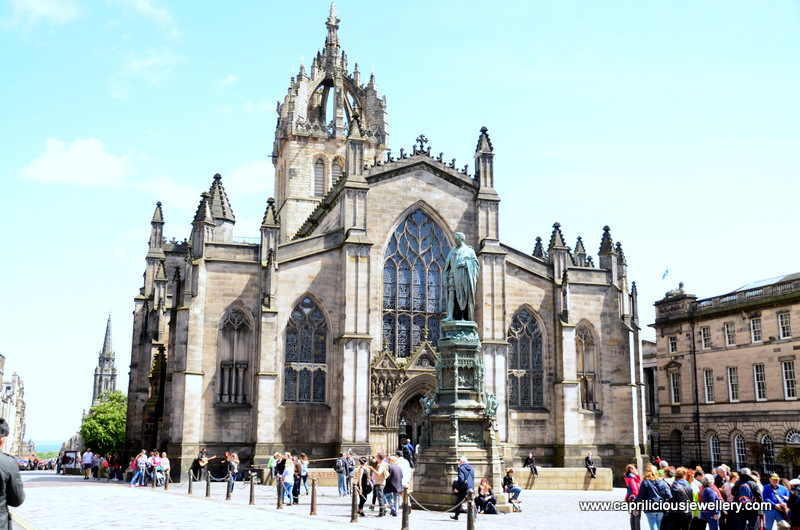 St Giles Cathedral with the crown shaped steeple, Edinburgh