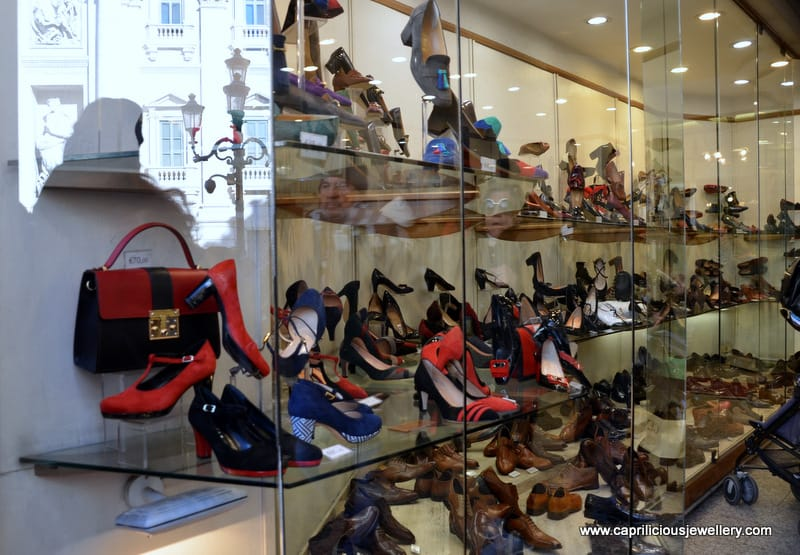 Shoe shopping at Beny, Piazza Trevi, Roma by Caprilicious Jewellery