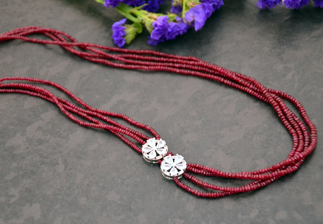 Ruby Necklace by Caprilicious Jewellery