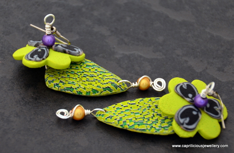 Frogabella - polymer clay earrings by Caprilicious Jewellery