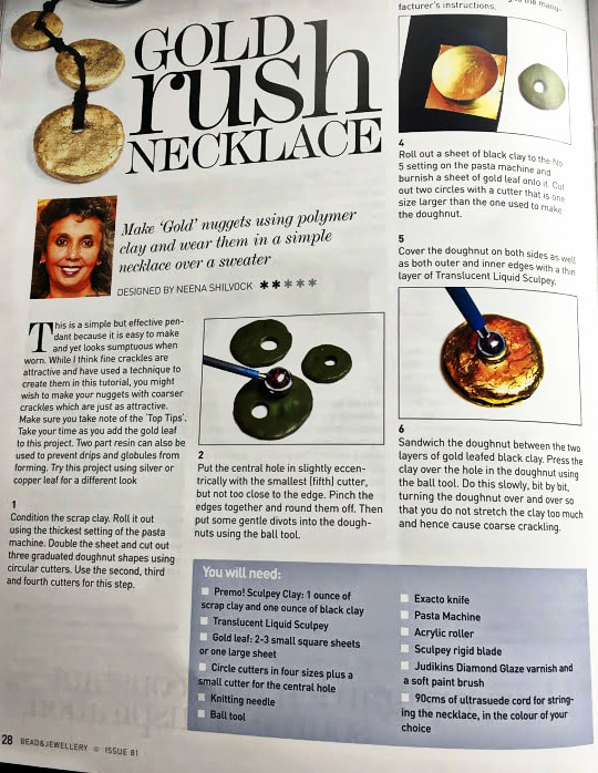 Bead and Jewellery Magazine - tutorial by Neena Shilvock