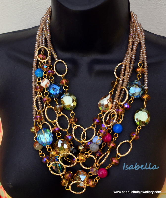 Isabella - a Bling necklace by Caprilicious Jewellery