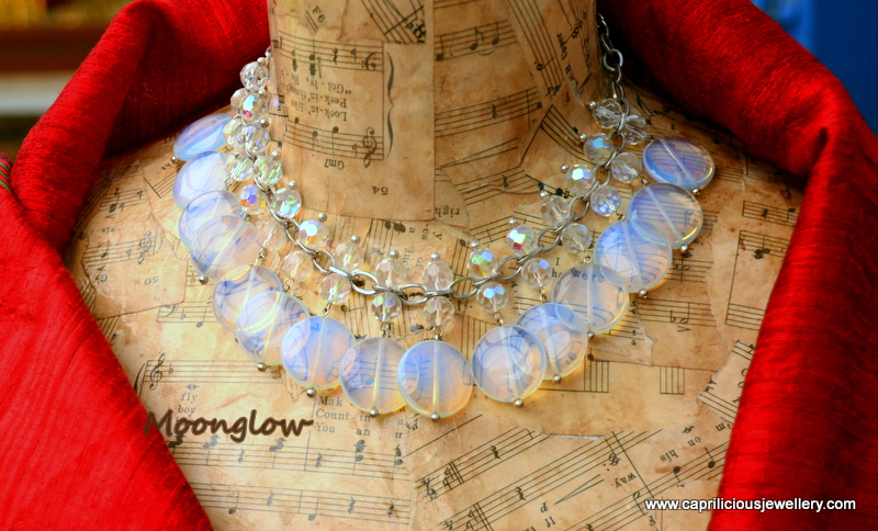 Opalite and crystal necklace - Moonglow by Caprilicious