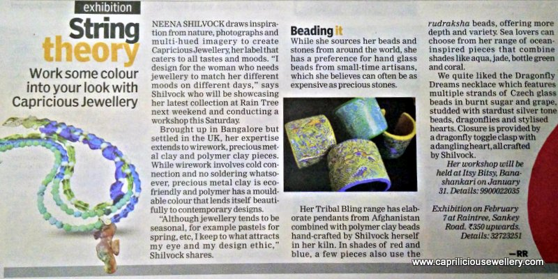 Indulge - Indian Express 30/01/2015