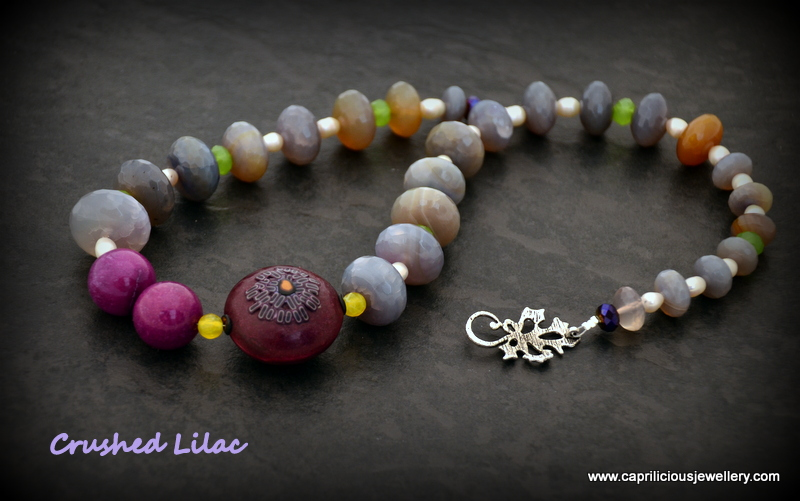 Agate and polymer clay necklace by Caprilicious Jewellery