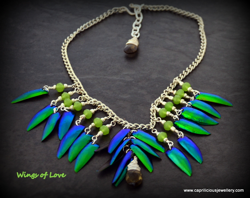 Beetle WIng jewellery by Caprilicious Jewellery
