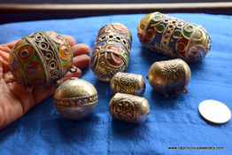Moroccan enamelled beads at Caprilicious Jewellery