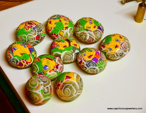 Pixie people - polymer clay beads by Caprilicious Jewellery