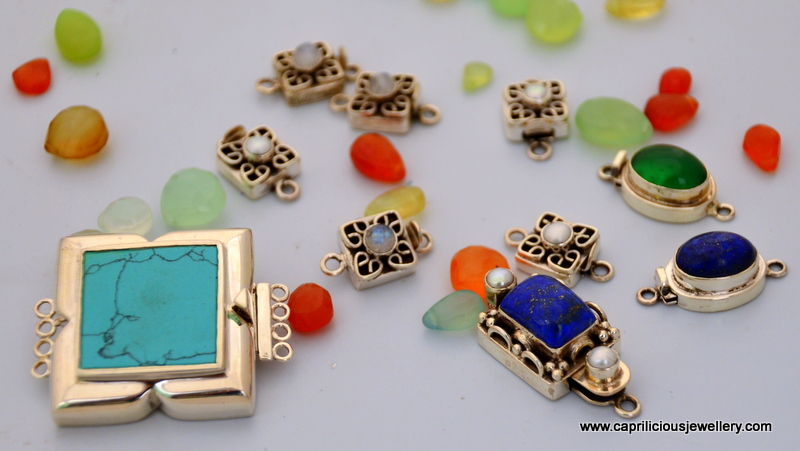 Gemstone clasps from Jaipur at Caprilicious Jewellery