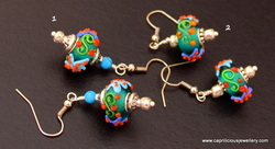 Lampwork bead earrings