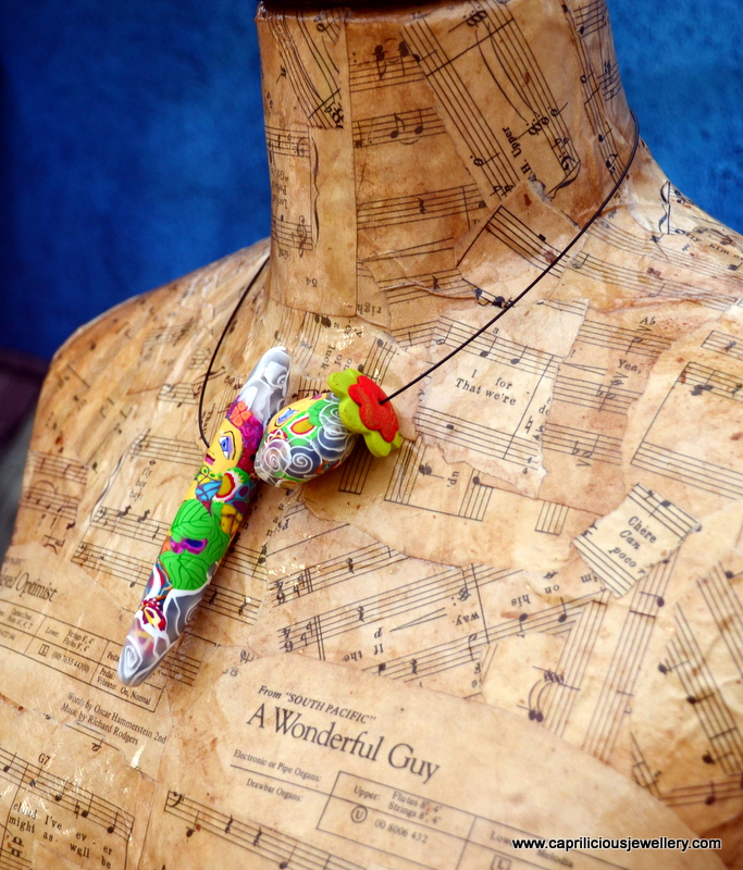 Pixie People - polymer clay bead necklace by Caprilicious Jewellery