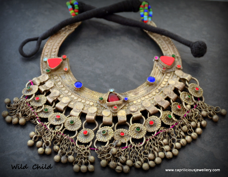 Wild Child - a Banjara vintage Kuchi belly dancers necklace by Caprilicious Jewelery