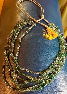 Multistrand tourmaline necklace