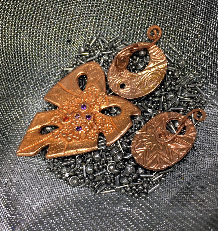 Copper Clay Pendant by Caprilicious Jewellery