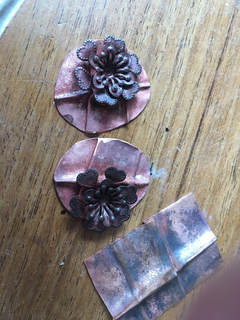 Fold formed earring components