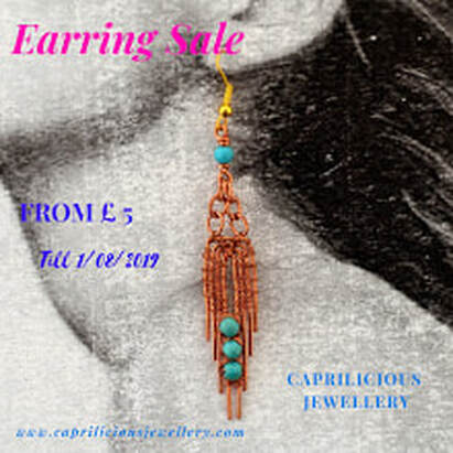 Earring Sale, Caprilicious Jewellery 2019