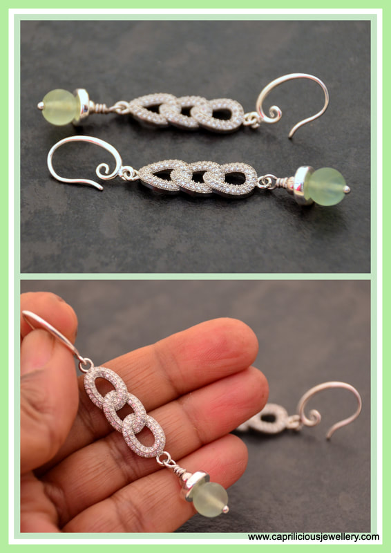 diamante earrings, statement earrings, silver, fluorite earrings, green and silver earrings